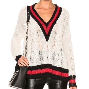RAG AND BONE Emma v neck sweater.